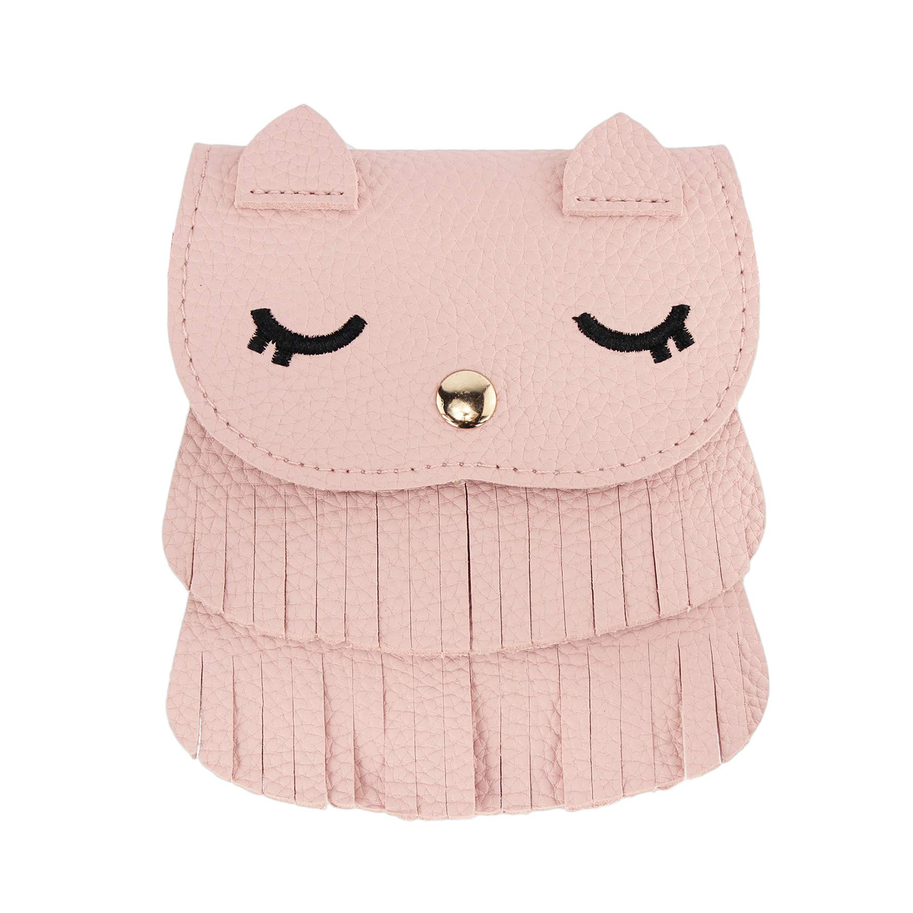 SteamedBun Girls Bags and Purses for Kids Crossbody Mini Halloween Owl Wallet with Tassel (Pink_large)