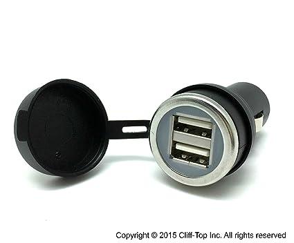 Cliff-Top® 3,3 Amp Cargador de coche USB Ultra rápido (Auto leguminoso) para Auto, camión, motocicleta, y Marine - hecho en Taiwán