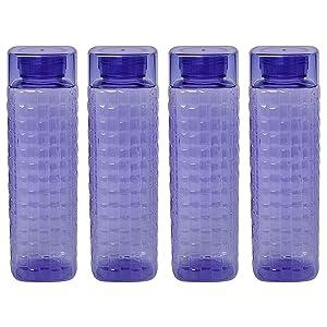 Steelo Garnet Pet Water Bottle 1000 ml, Set of 4, Evening Blue