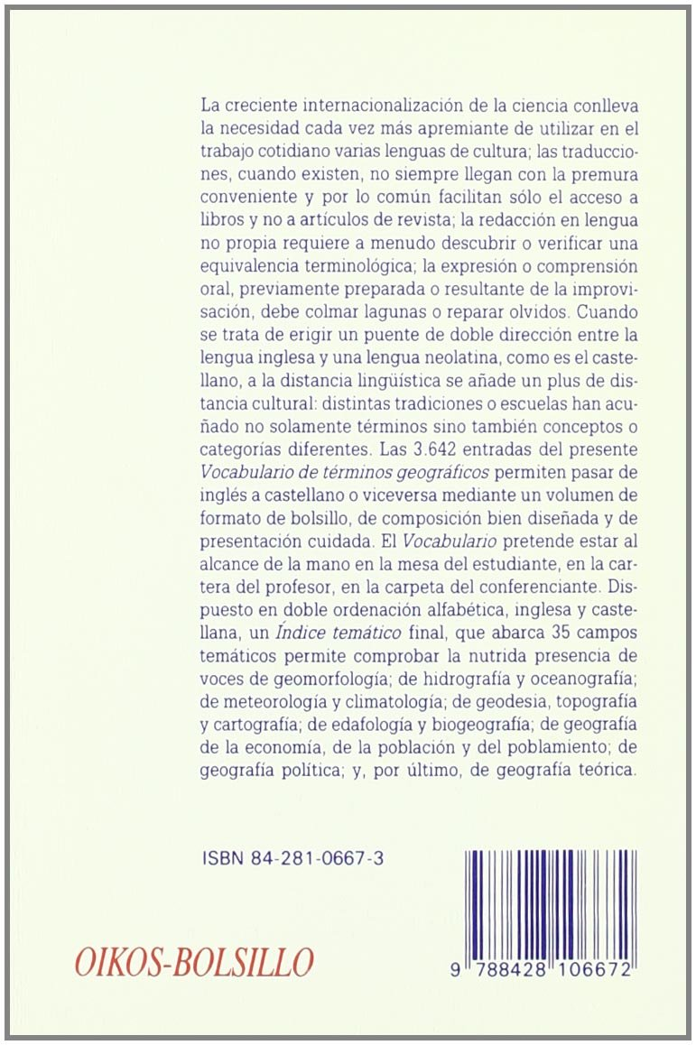 Vocabulario de términos geográficos: Español-inglés, inglés-español ...