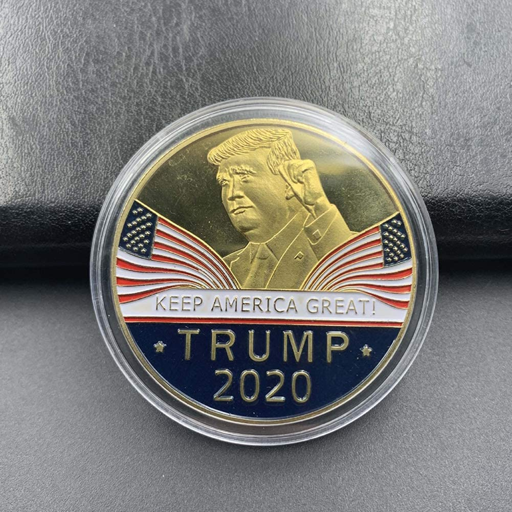 100x Donald Trump 2020 Keep America Great Commander Chief Gold Challenge Coin RF