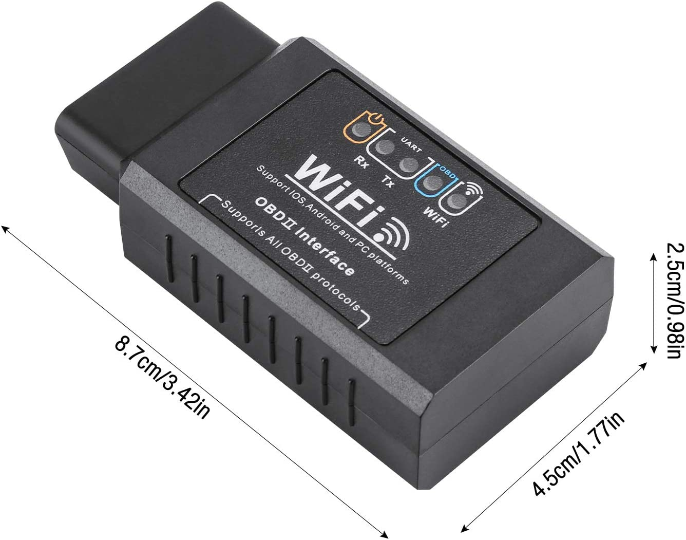 OBD II Adaptateur sans-Fil Scanner pour Toutes Les Voitures IWILCS OBD2 Diagnostic WiFi Windows Auto Lecteur et Suppression Codes derreurs de Diagnostique pour iOS Android