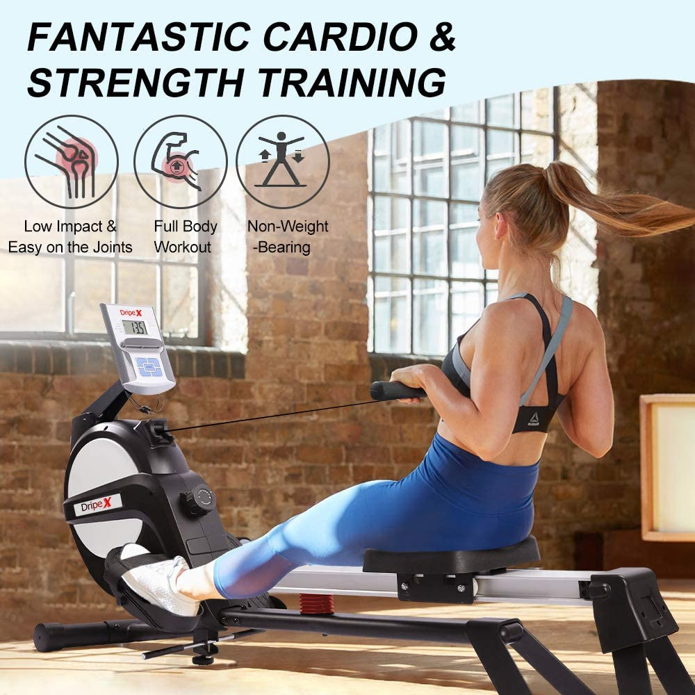 Dripex Magnetic Rowing Machine - Cardio and strength training