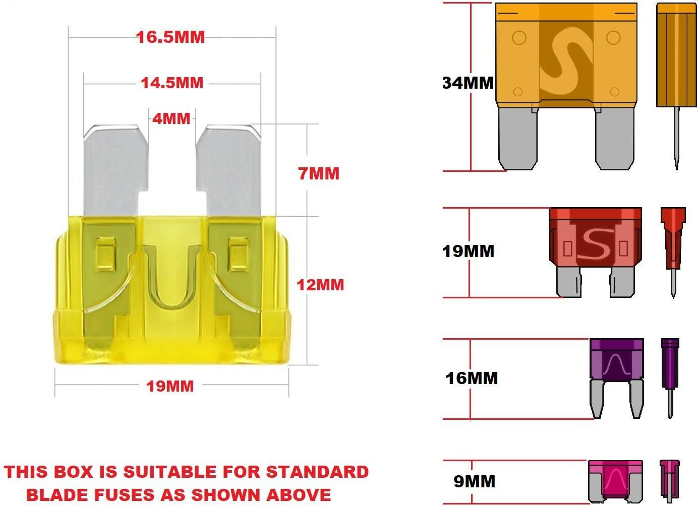 Renault MEGANE SALOON CAR BLADE MINI STANDARD FUSE BOX KIT 5 10 15 20 25 30 AMP