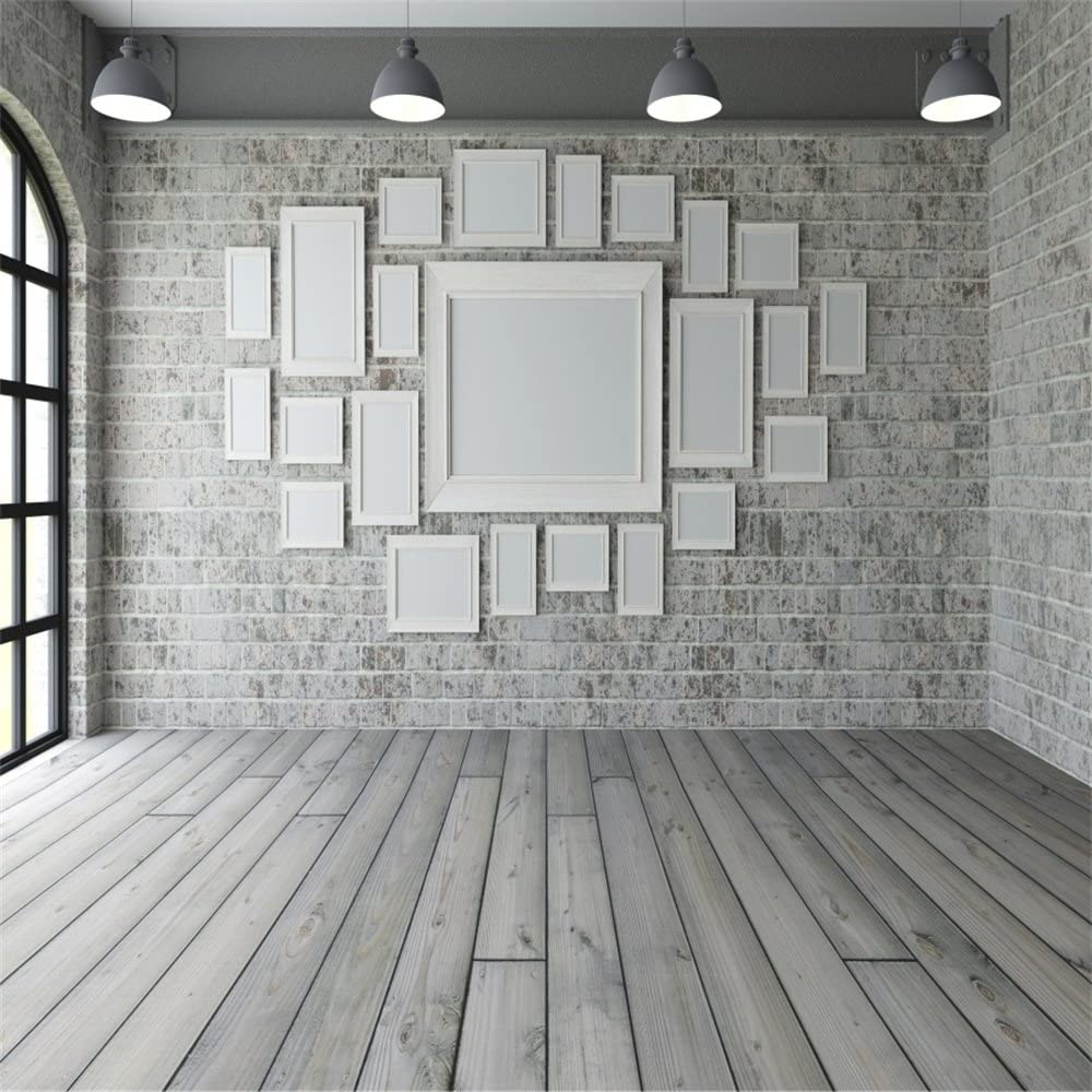 Amazon Com Lfeey 8x8ft Empty Room Picture Frames Wall Backdrop For Photography Lighting Studio 3d Living Room Wooden Floor Photoshoot Background Photo Frame Adults Kids Newborn Baby Portrait Photo Booth Props