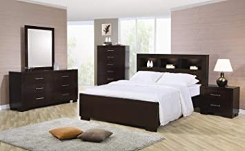 Amazon Com Coaster Home Furnishings 4pc King Size Bedroom Set In