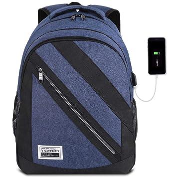 YAMTION Laptop Rucksack Schulrucksack Teenager Rucksack