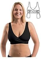 Essential Relaxed Pump&Nurse Nursing Bra with built in hands-free pumping bra - Black, M