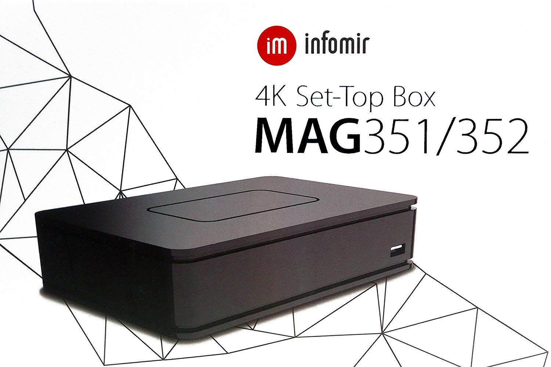 Linux OpenGL es 2.0 bcm75839 infomir Ott Mag 352/Premium IPTV//Set-Top Box 1/Go de RAM 512/MB Flash//HEVC 3,3