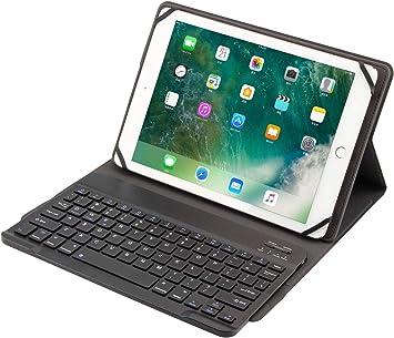 VOVIPO Teclado Bluetooth universal con funda para tablets de 9 a 10 pulgadas, 2 en 1, compatible con Lenovo, Huawei, Samsung