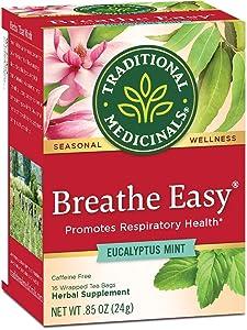 Traditional Medicinals Breathe Easy Seasonal Tea, 16 Tea Bags (Pack of 6)