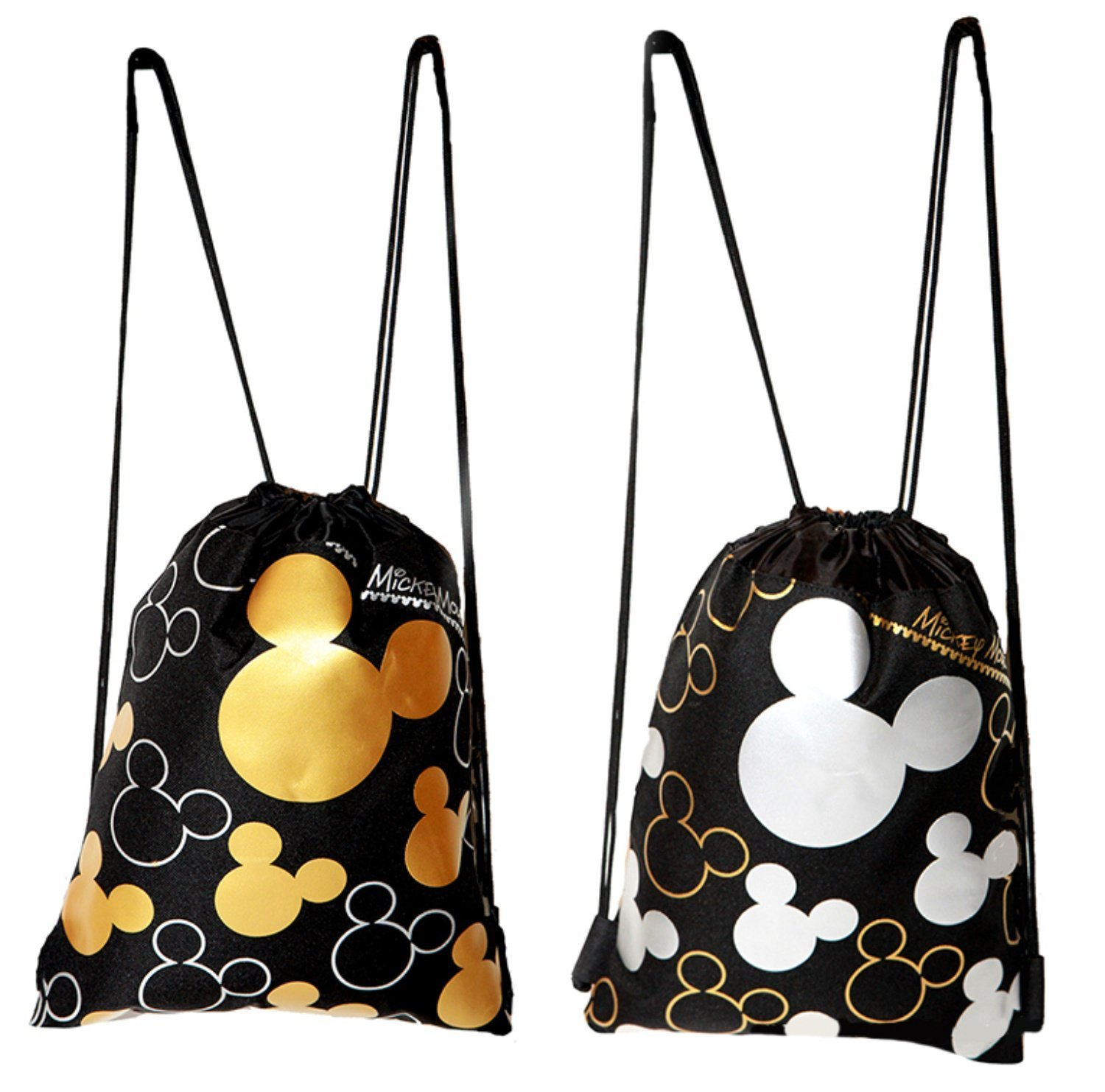 afbe6f1e4b6 Amazon.com  Disney Mickey Mouse Drawstring Backpack 2 Pack  Toys   Games