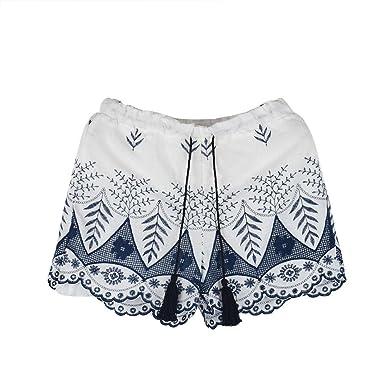 b6e3f269586f CLOOM Shorts Damen Sommer Blumen Druck High Waist Hotpants Frauen Sexy Hot  Pants Beiläufig Hoher Taille