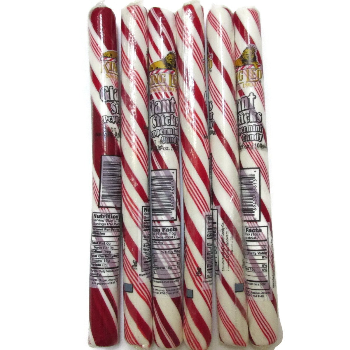 amazon com king leo giant peppermint stick candy cane pack of 6