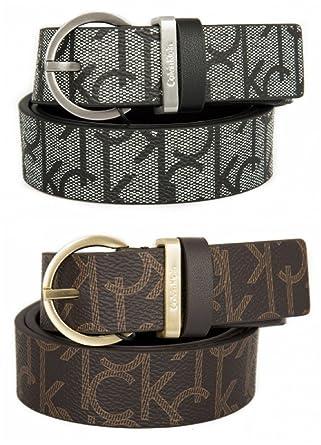 Calvin Klein Women s Marissa Monogram Belt pack of 2  Amazon.co.uk ... 38ed9462f2a