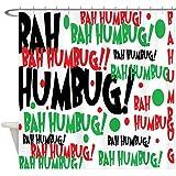 CafePress - Bah Humbug Chr - Decorative Fabric Shower Curtain