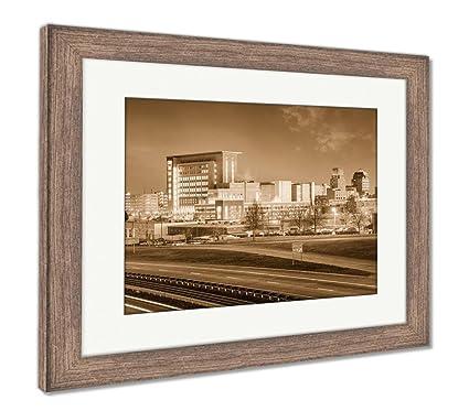 Amazon Com Ashley Framed Prints Durham North Carolina Usa Downtown