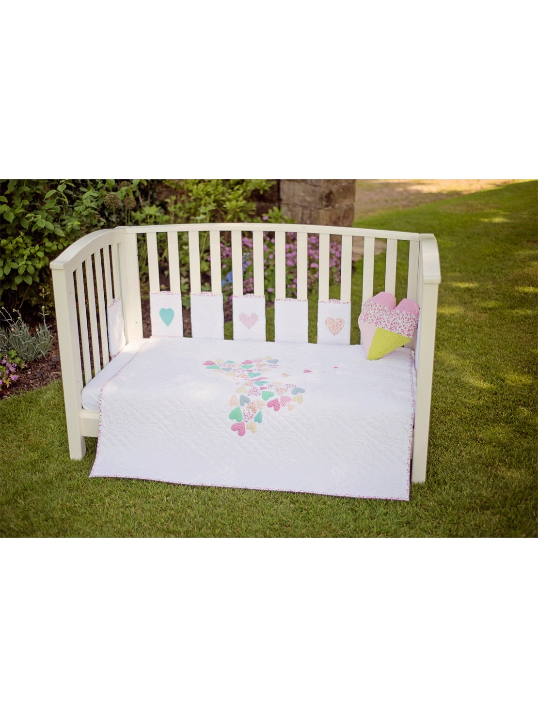 Bizzi Growin Stunning Jemima Cot /& Cot Bed Quilt Coverlet