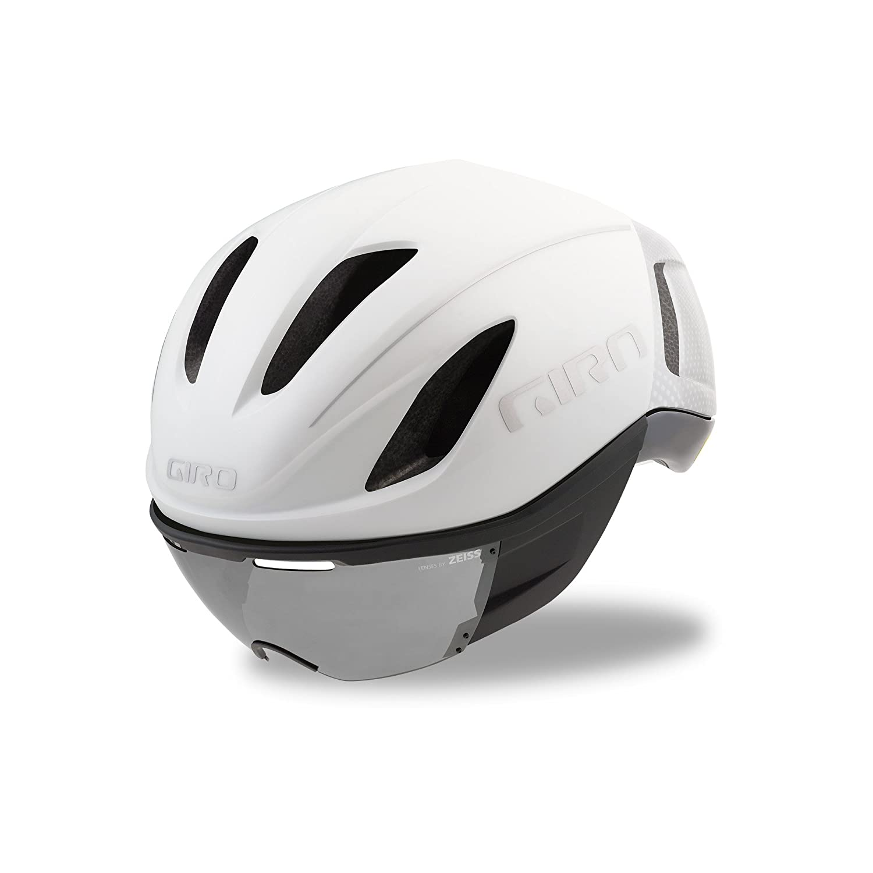 Matte White Large Giro Vanquish Aero Bike Helmet with MIPS