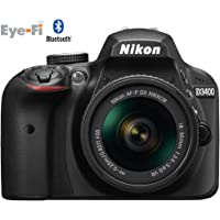 Nikon D3400 Digital SLR Camera & 18-55mm VR DX AF-P Zoom Lens (Black) - (Certified Refurbished)