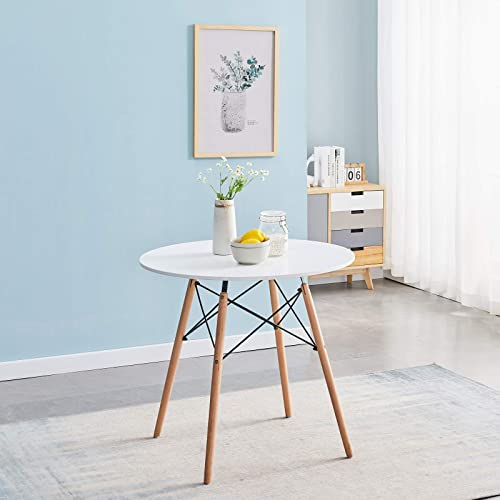 Symylife Modern Round Dining Table