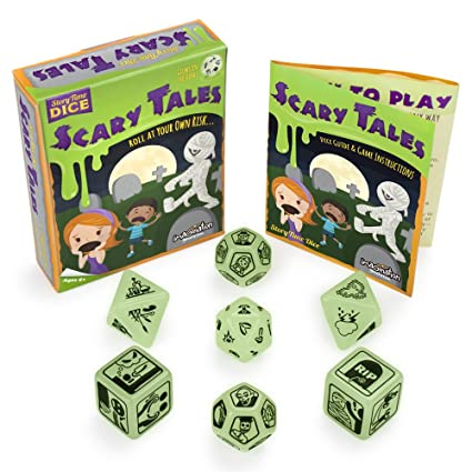 Amazon com: Glow in the Dark Scary Tales Story Time Dice - 7