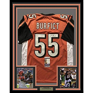 Image Unavailable. Image not available for. Color  Vontaze Burfict Signed  Jersey - FRAMED 33x42 Orange COA - JSA Certified - Autographed NFL Jerseys d0deb0af5