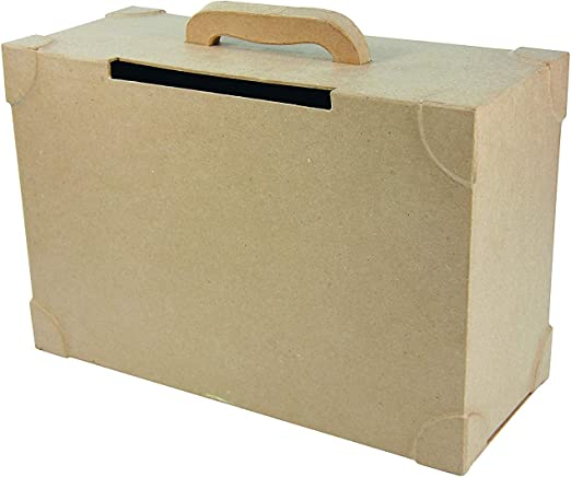 Decopatch Caja de Papel maché Maleta para Boda, marrón: Amazon.es ...