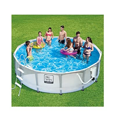 Summer Waves ProSeries 14u0027 X 42u0026quot; Premium Frame Above Ground Swimming  Pool With Deluxe