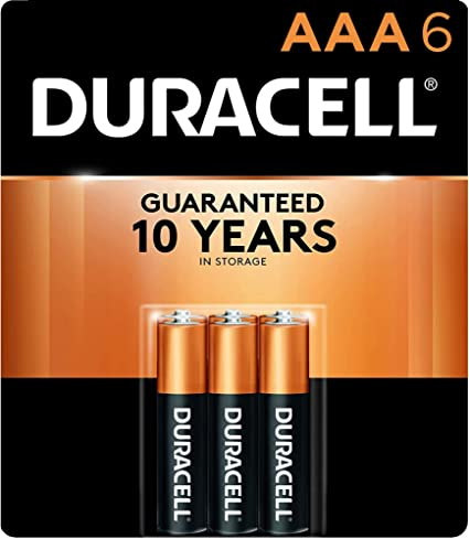 Amazon Com Duracell Coppertop Aaa Alkaline Batteries Long Lasting All Purpose Triple A Battery For Household And Business 6 Count Health Personal Care