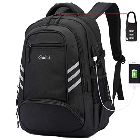 7d584e982a71 Business Travel Backpack, Gudui Slim Laptop Backpack for Women & Men, Water  Resistant College School Computer Bag, Casual Hiking Daypack, with USB ...