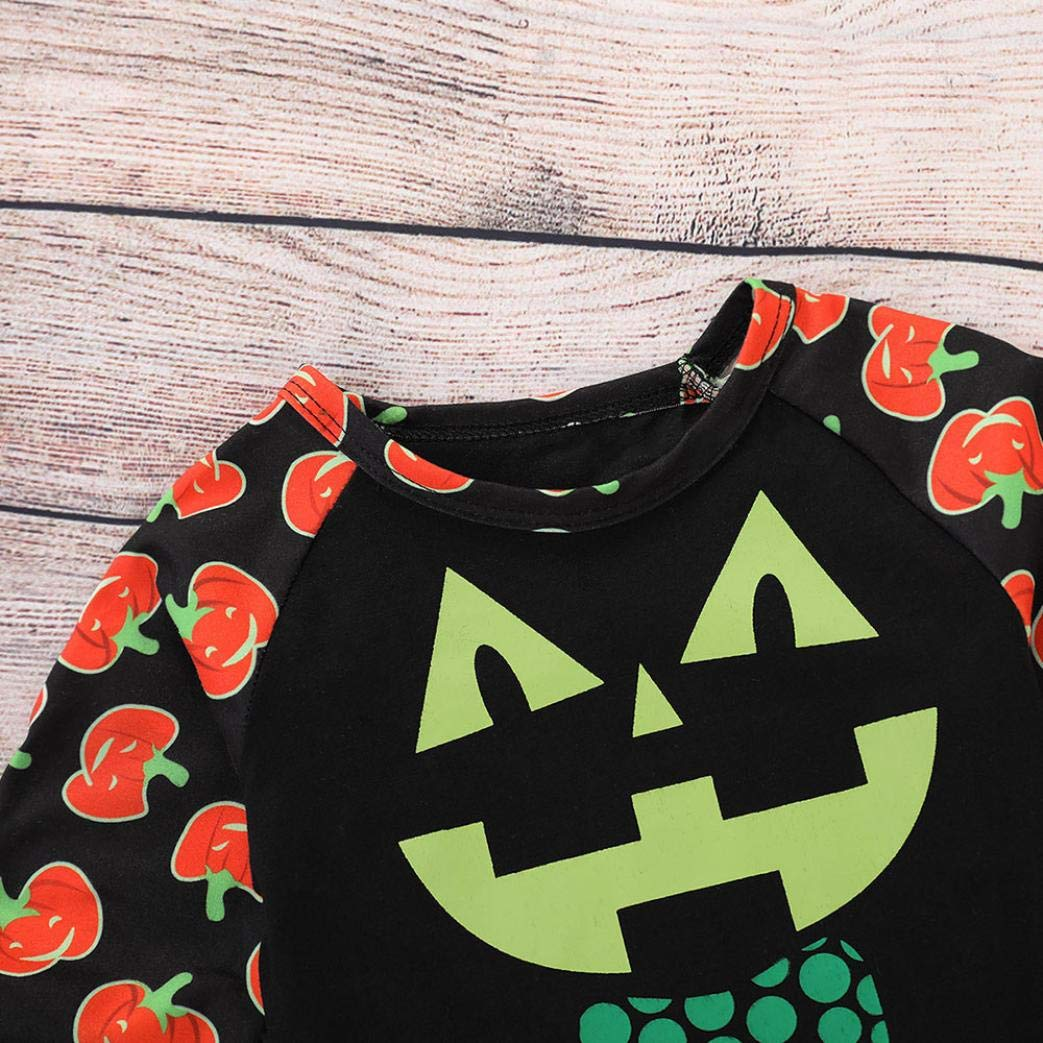 Matoen Toddler Baby Girls Boys Long Sleeve Cotton Halloween Pumpkin Tops