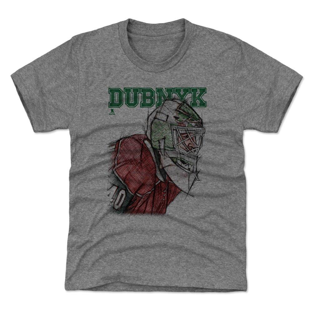 500レベルDevan DubnykミネソタHockeyユースシャツ – Devan Dubnykスケッチ Kids X-Small (4-5Y) グレイ Kids X-Small (4-5Y) Tri Gray B07C9YKPLV