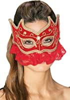 Adult Red Princess Sultana Mask - Womens Std.