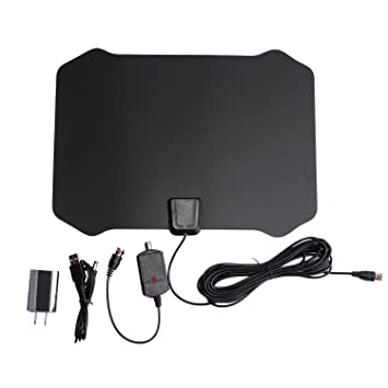 Armix Digital TV HDTV Antenna 1080P Advanced 50 Miles Range Indoor with Detachable Amplifier Signals Booster