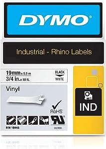 "DYMO 3/4"" White Vinyl Labels"