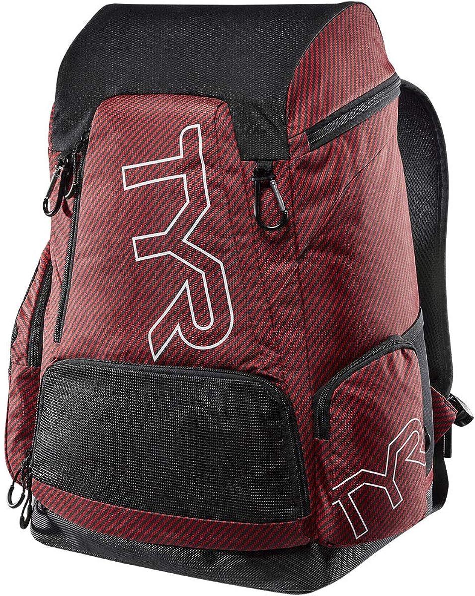 TYR Unisex Alliance 45L Team Carbon Print Backpack