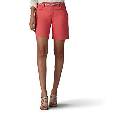 171a12a8fd5b LEE Women's Midrise Total Freedom Bradbury Belted Walkshort, Pimento, ...