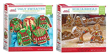 Amazoncom Ugly Sweater Cookie Kit Ninjabread Gingerbread Cookie