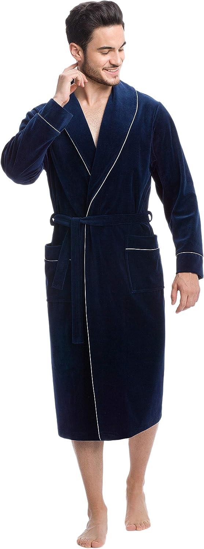 LEVERIE Robe de Chambre Chic et /él/égante pour Homme Fabriqu/ée dans lUE.