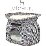 Richy - Panier pour chien et chat en osier - grandeur (environ.): 55x39x43cm
