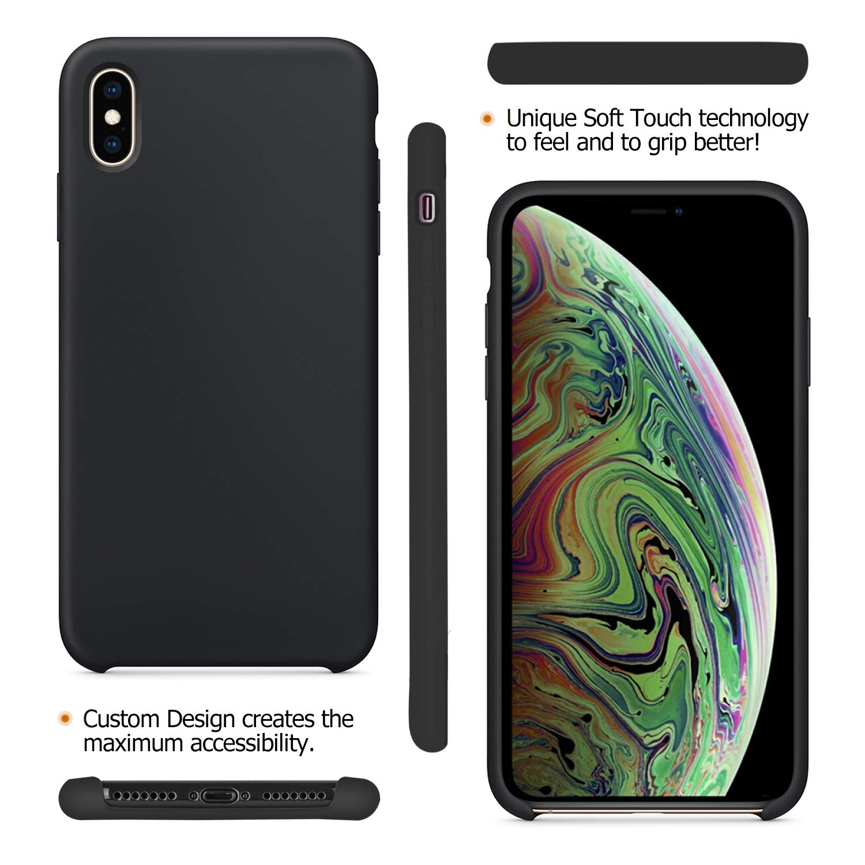 Funda iPhone X, Fuleadture Slim Líquido de Silicona Gel Carcasa Alta Calidad Anti-Rasguño y Resistente Huellas Dactilares Totalmente Protectora Caso ...