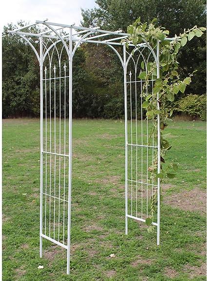 HAFIX XXXL Arco Blanco Rectangular Jardín Rank Rosales y Enredaderas Rose Estructura armazón de Rose Rose: Amazon.es: Jardín