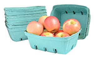 Green Molded Pulp Fiber Berry/Produce 1.5 Quart Basket (Set of 12)