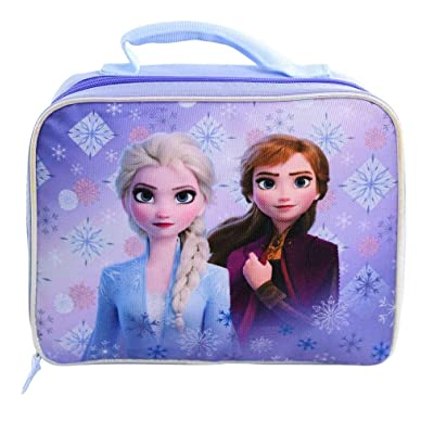 Frozen 2 Anna & Elsa Bag-ENLUB Lunch Box, small, Blue: Kitchen & Dining