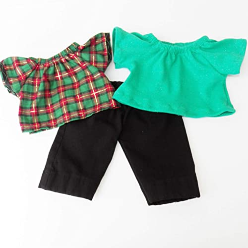 Cabbage Patch Doll Clothes Fits 14 Inch Boy or Preemie Black Khaki Check Pants