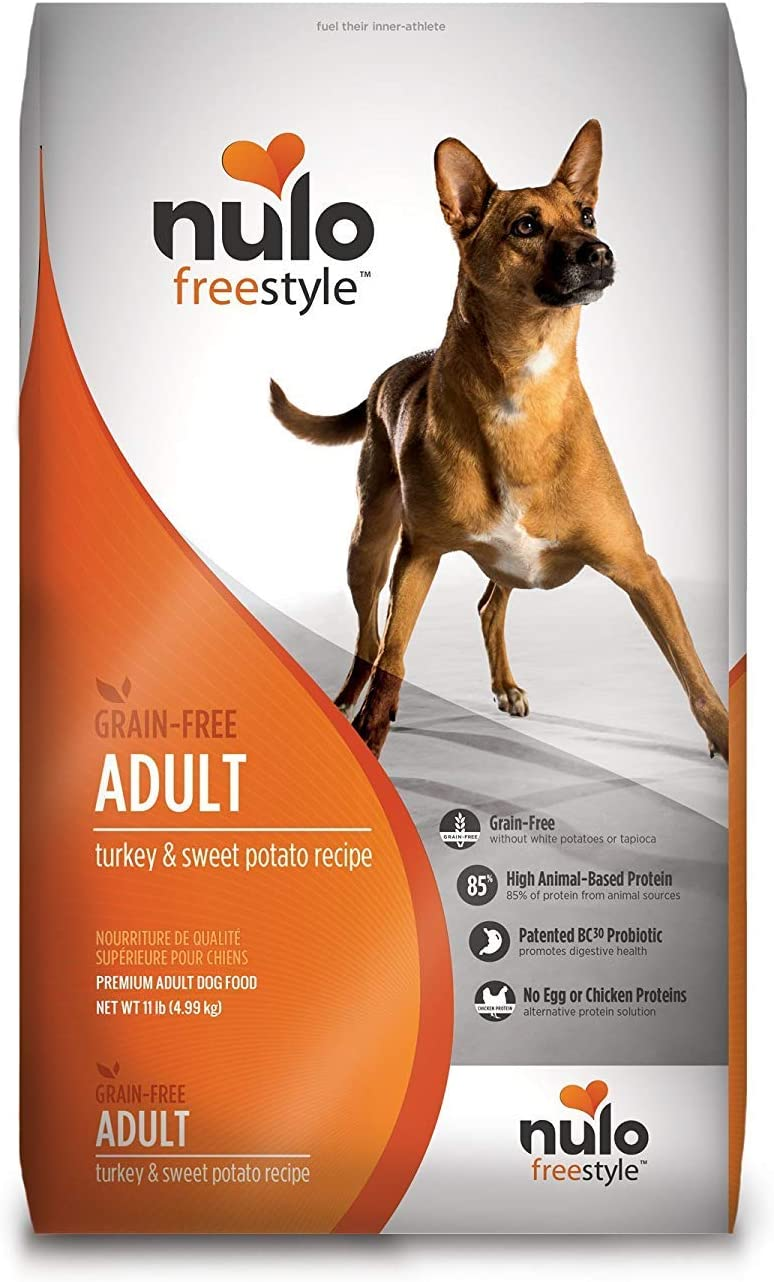Nulo Grain Free Dog Food: All Natural Adult Dry Pet Food For Large And Small Breed Dogs (Turkey, 11Lb)