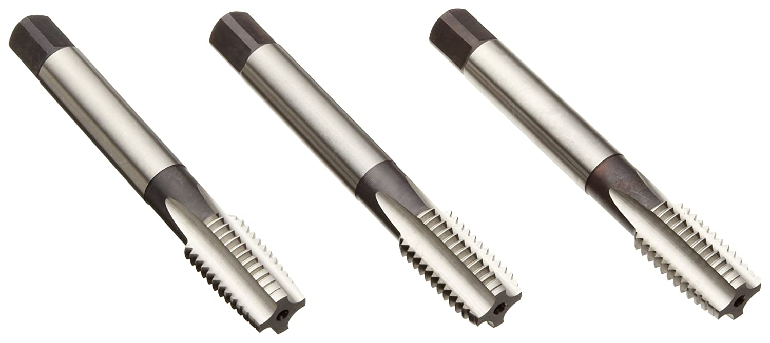 Round Shank with Square End Uncoated M24-1.50 Thread Size Precision Dormer 0096468 Bright 2-Piece Dormer E513 High-Speed Steel Straight Flute Tap Set Finish 1 Plug, 1 Bottoming Chamfer