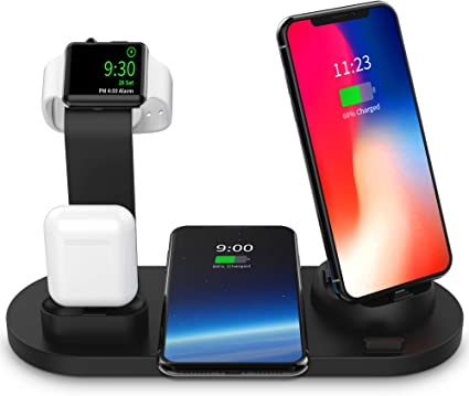 Amazon.com: SODYSNAY Wireless Charger, 3 in 1 Wireless Charging Dock for  Apple Watch and Airpods, Charging Station for Multiple Devices, Qi Fast Wireless  Charging ...