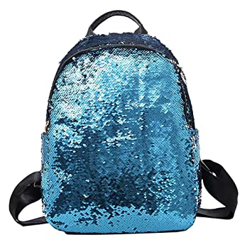 Bolsos Mochilas Casual Lentejuelas Simple Gran Capacidad de Moda Bolso Creativo de Mujeres para Viaje o Escuela Paquete de Diario Messenger Bag Backpack de ...
